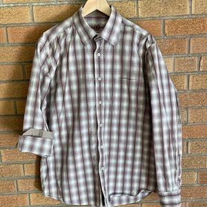 Brown and Tan Dress Shirt